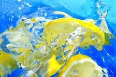 citronfärgstänk Royaltyfria Foton