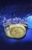 citronfärgstänk Royaltyfri Foto