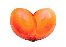 Citronhjärta på en vit bakgrund Fotografering för Bildbyråer