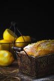 Citronkaka Arkivfoto