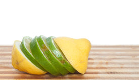 citronlimefruktskivor Royaltyfri Fotografi