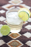 citronlimefruktvatten Arkivfoto