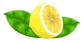 Citronlutningingrepp Arkivfoto