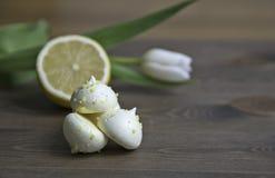 Citronmaräng Fotografering för Bildbyråer