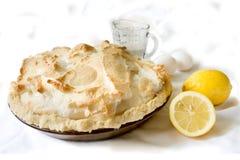 citronmarängpie Arkivbild