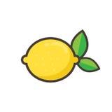 citronobjekt för tecknad film 3d över fotowhite Arkivfoto