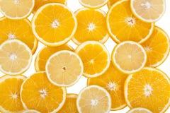 citronorangeandskivor Arkivfoton