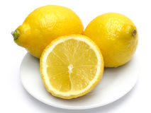 citronplatta Arkivbilder