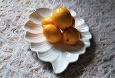Citrons dans une cuvette Photographie stock libre de droits