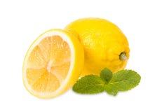 Citrons et menthe frais Photographie stock libre de droits