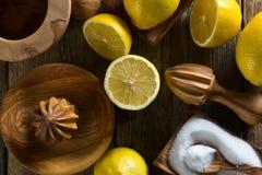 Citrons et presse-fruits photo libre de droits