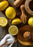 Citrons et presse-fruits images libres de droits