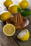 Citrons et presse-fruits photos libres de droits