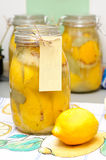 Citrons marinés marocains Image stock