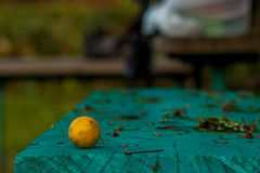 Citrons sauvages sur le banc Photo stock