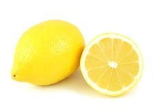 Citrons sur d'isolement Photographie stock libre de droits