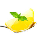 citronsked Fotografering för Bildbyråer