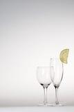Citronskiva Arkivbild
