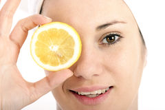 citronskiva Arkivfoto