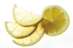 Citronskivor, närbild Royaltyfria Bilder