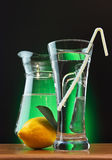 citronsodavattenvatten Arkivbilder