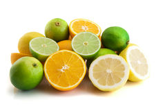 Citrus. Isolated on the white background stock photos