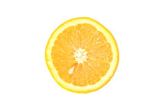 Citrus. Half of Orange with a seed, the top view, on a white background Royalty Free Stock Photography