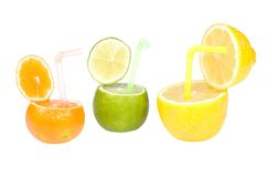 Citrus abstract fruit drink. Stock Photography