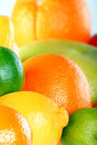 Citrus background. On the table Stock Photo