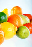 Citrus background. On the table Royalty Free Stock Photography