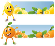Citrus Banners Stock Image
