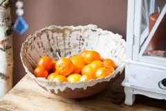 Citrus Bowl. Brown and white handmade Citrus Bowl Stock Photos