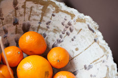 Citrus Bowl. Brown and white handmade Citrus Bowl Royalty Free Stock Photo
