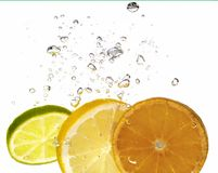 Citrus and bubble Stock Photography