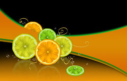 Citrus and bubbles Royalty Free Stock Photos