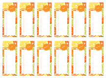 Citrus Calendar Book 2016. Calendar 2016 - wall calendar book design Stock Photo