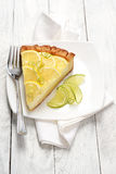 Citrus cheesecake slice Royalty Free Stock Image