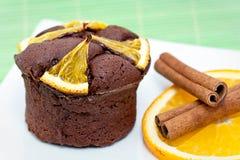 Citrus Chocolate Cake Stock Photo