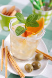 Cocktail with citrus fruit Royalty Free Stock Photo