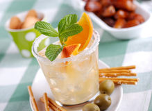 Cocktail with citrus fruit Royalty Free Stock Image