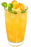 Citrus cocktail with orange juice and slice kumquat Stock Images