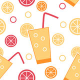 Citrus Cocktail Seamless Pattern Background Vector Stock Photos