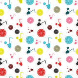 Citrus Cocktail seamless pattern background vector illustration Royalty Free Stock Image
