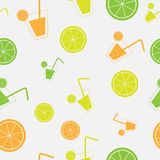 Citrus Cocktail seamless pattern background vector Royalty Free Stock Photo