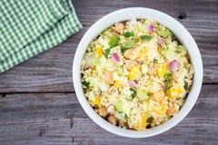 Citrus couscous salad Stock Photo