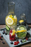Citrus cucumber sassy water Royalty Free Stock Photo