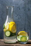 Citrus cucumber sassy water Stock Photography