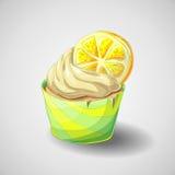 Citrus cupcake. Hand draw. Citrus cupcake Vector illustration. Sweets Royalty Free Stock Photos