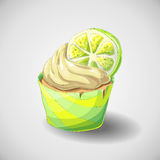 Citrus cupcake. Set of capkakes. Hand draw. Citrus cupcake. Vector illustration Stock Photo