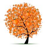 citrus din designenergitree royaltyfri illustrationer